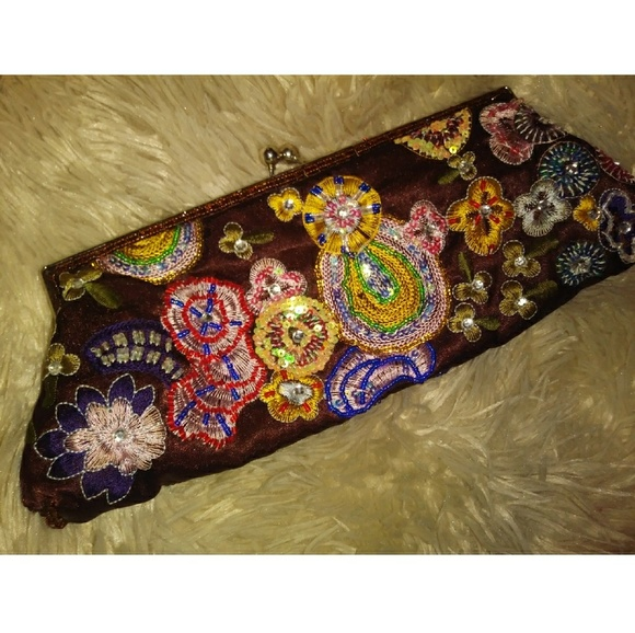Bags Vintage Hand Embroidered Clutch Purse Poshmark